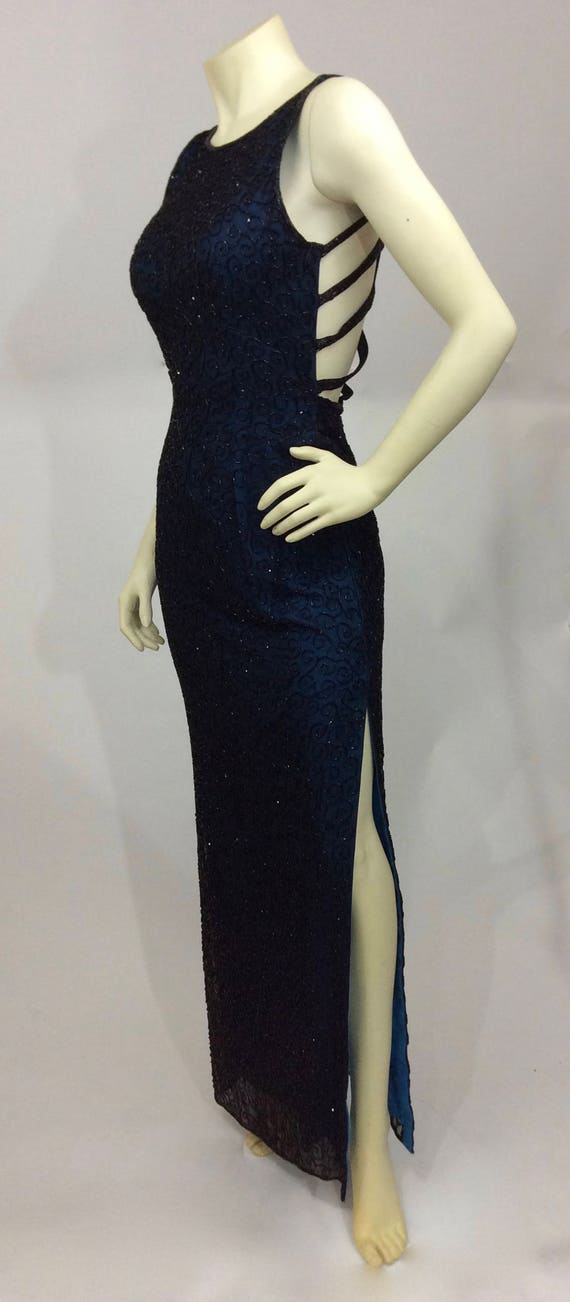 Vintage Andretta Donatello Beaded Gown/Beaded Bac… - image 7
