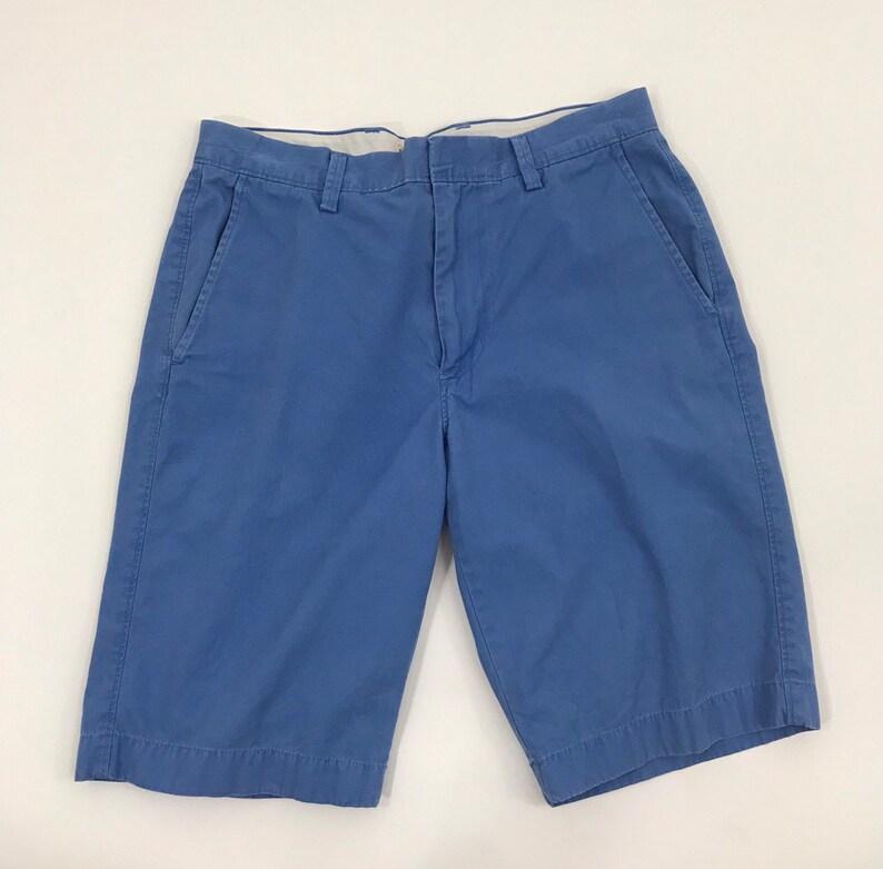Vintage 90s J.Crew Bermuda ShortsBlue Chino Surf ShortPreppy Bermuda ShortsUnisex 30 Inch Waist J.Crew Cotton ShortFlat Front Shorts