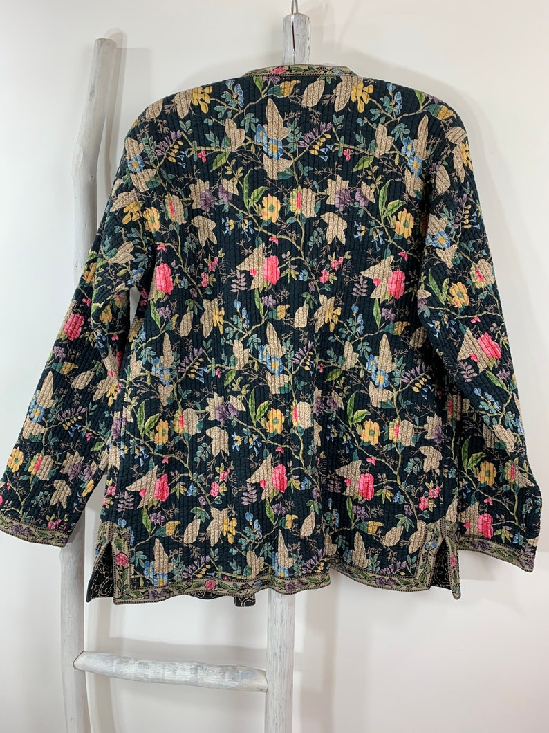 Reversible Boho Funnel Quilt Light Weight Jacket Kantha Quilt Hippie Jacket