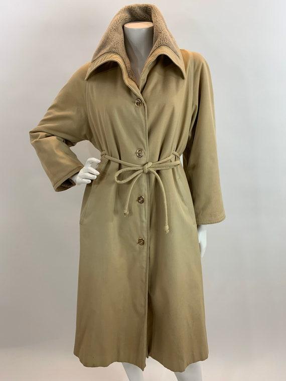 Vintage Bonnie Cashin Trench Coat/Faux Fur Lined T
