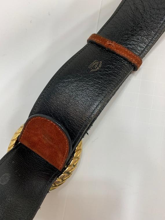 Vintage 1970's Rust Suede Gucci Belt Vintage Desi… - image 8