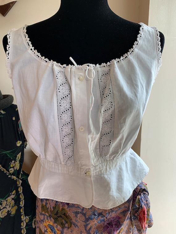 Antique Cotton Corset Cover