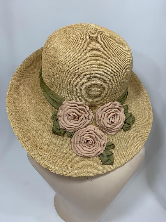 Vintage Grevi Firenze Straw Hat/Spring Straw Hat/… - image 6