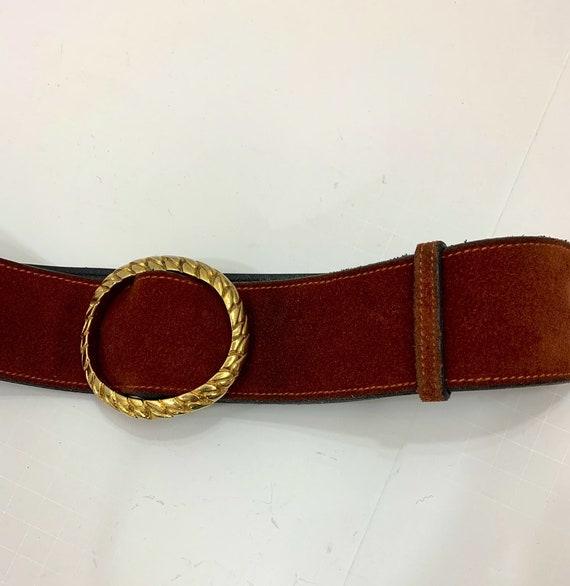 Vintage 1970's Rust Suede Gucci Belt Vintage Desi… - image 2