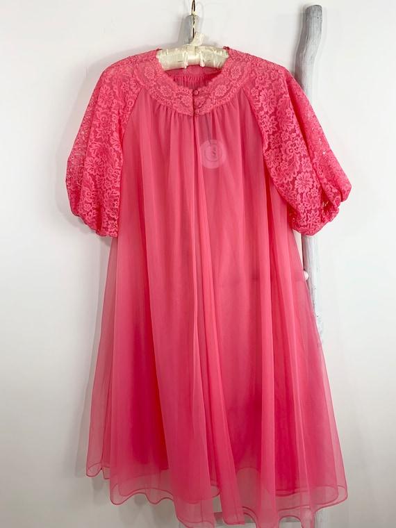 Vintage 1960s Vanity Fair Nylon Watermelon Pink Be
