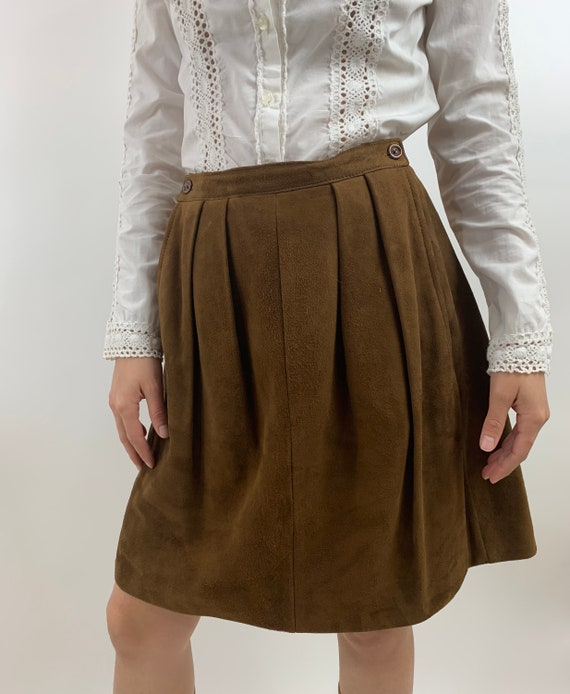 Vintage Suede Skirt/Vintage St Victor Suede Skirt/