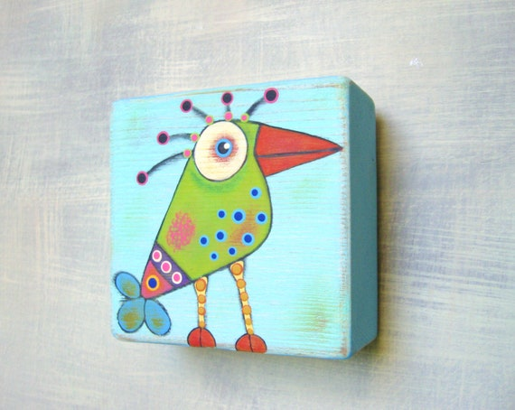 Folk Art Acrylic Paint On Wood
