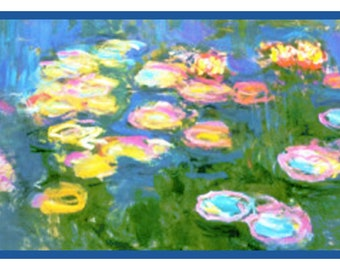 Impressionist Monet Low Tide Beach Counted Cross Stitch Chart Pattern
