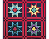 4 Feathered Stars inspired by an Amish Quilt Orenco Originals Counted Cross Stitch Chart Pattern