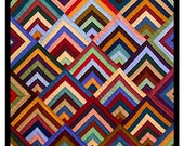 Concentric Chevrons inspired by an Amish Quilt Orenco Originals Counted Cross Stitch Chart Pattern