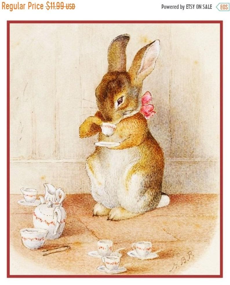 Beatrix Potter Peter Benjamin Rabbit Eat Carrots Counted Cross Stitch Pattern