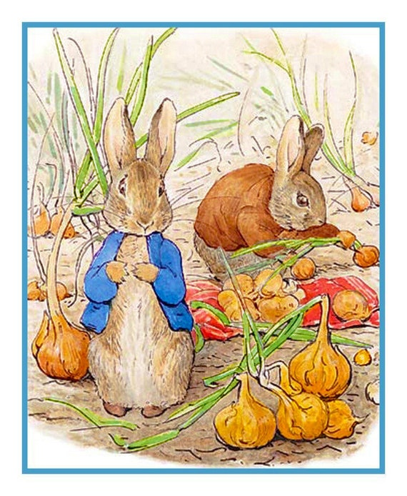 Beatrix Potter COLORS The World from Petter Rabbit Counted Cross Stitch Book Chart and Key ONLY PDF
