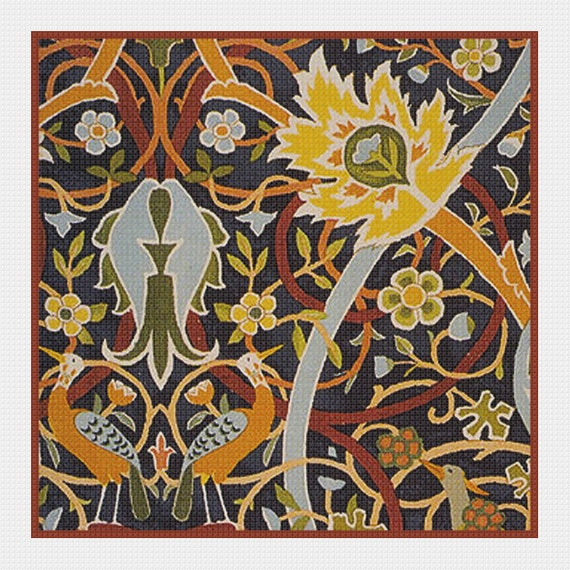 Orenco Originals Bullerswood #2 by William Morris Counted Cross Stitch Pattern