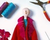 Portrait Gift Idea / Custom Doll Portrait // Portrait Art Doll / Paperclay Doll / 3d Portrait Idea / Collectors Doll / Sculpted Portrait