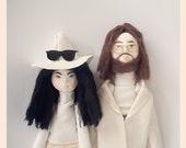 Personalized Dolls // Portrait Dolls / Unique Portrait Gift / Gift for Couples / Portrait Gift Idea / Wedding Cake Topper / Cake Topper Idea