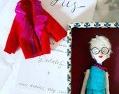 Portrait Gift Idea // 3d Portrait Idea / Custom Doll Portrait / Portrait Art Doll / Paperclay Doll / Collectors Doll / Sculpted Portrait