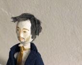 Art Doll Portrait / Paperclay Doll / 3d Portrait Idea / Portrait Gift Idea / Collectors Doll / Sculpted Portrait / Portrait Art Doll