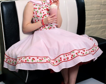 Carie Cherry Dress  vintage style   pin-up   rockabilly knee-high dress by  TiCCi Rockabilly Clothing 15202845f