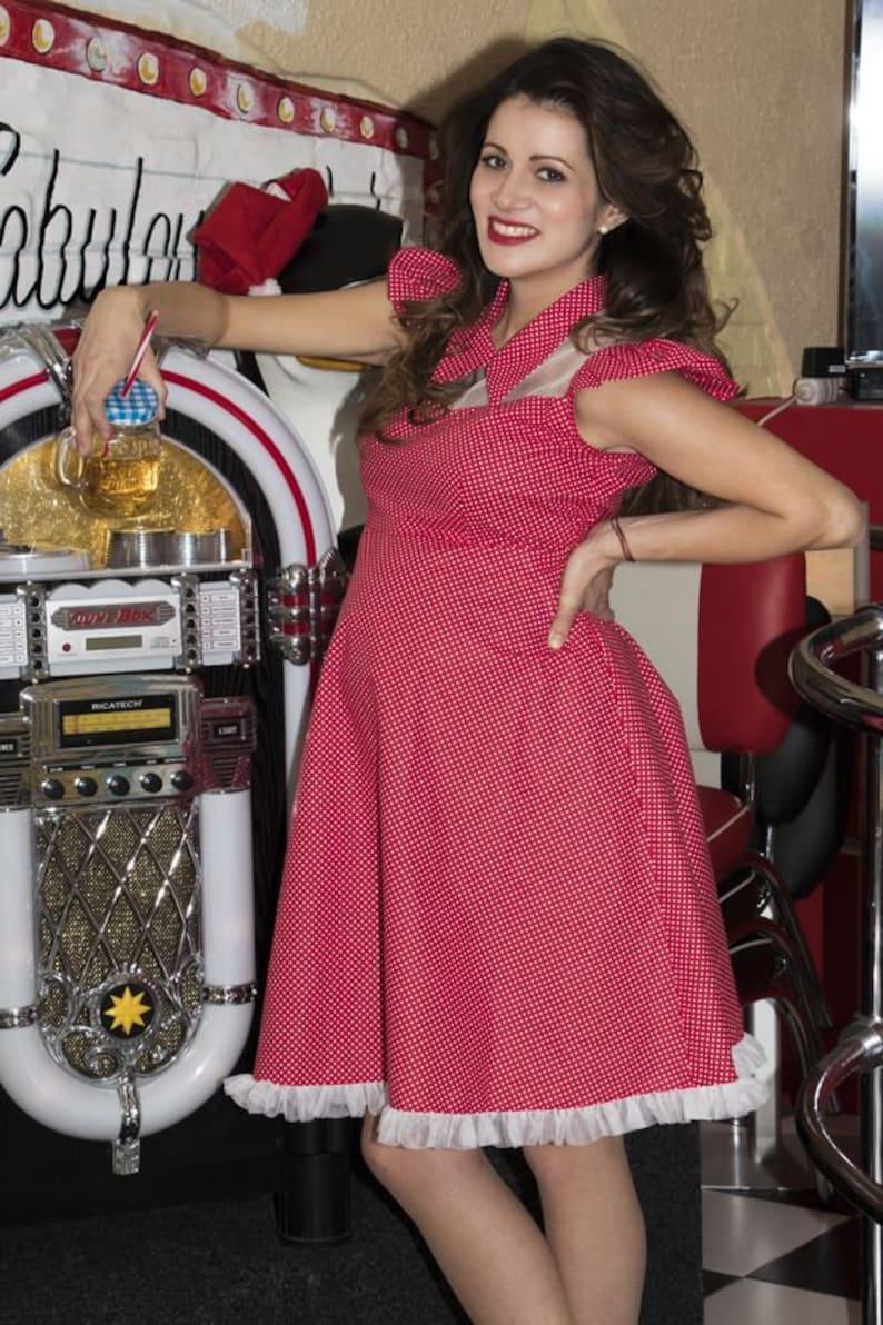Vintage Maternity Clothes History     Polka Dots Maternity Dress: rockabilly / vintage style / pin-up maternity wear by TiCCi Rockabilly Clothing $108.00 AT vintagedancer.com