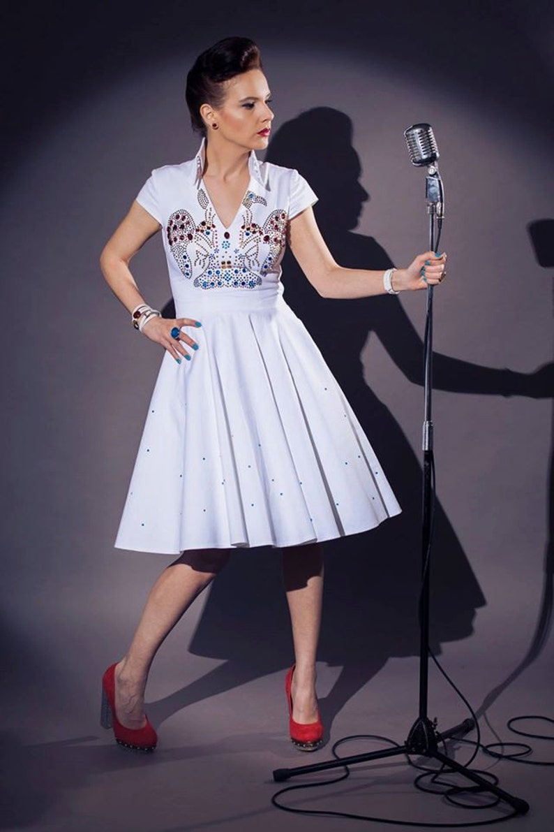 8cade253a Elvis inspired wedding dress: vintage / pin-up / rockabilly | Etsy