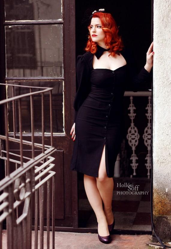 Little Black Dress Vintage Style Pin Up Rockabilly Pencil Etsy