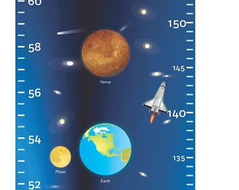 Growth Height Chart Solar System Decal Wall Sticker Removable - by babygraphics