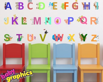 English Animal Alphabet - removable (by babygraphics)