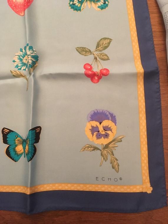 Echo scarf fabulous butterflies strawberries cher… - image 5