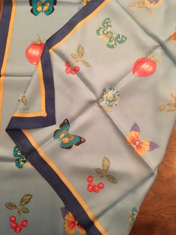 Echo scarf fabulous butterflies strawberries cher… - image 6