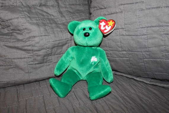 TY Beanie Baby ERIN the Irish Bear with error Gasport  0535460fc982