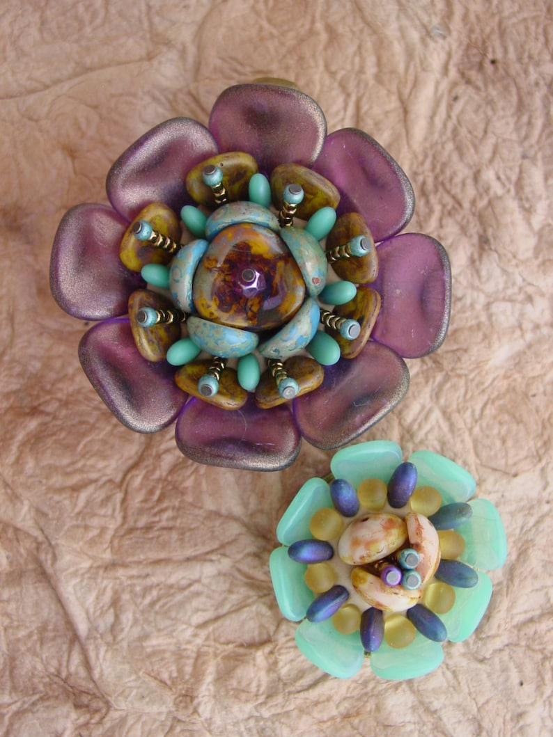 SOLD Succulent Flower KIT purple image 0
