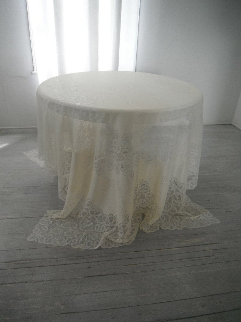 wedding decor 104inx70in swirl pattern cloth vintage cream cloth swirl lace cloth rectangular tablecloth cottage chic cloth french country