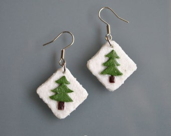 Pine Trees Earrings - Gifts for her