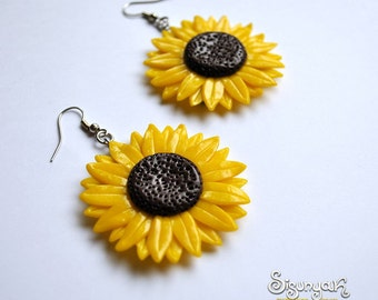 Sunflower Earrings - Gifts for her