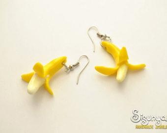 Banana Earrings Fruit Earrings Yellow Earrings - Gifts for her