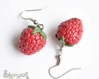 Raspberry Earrings - Gifts for her