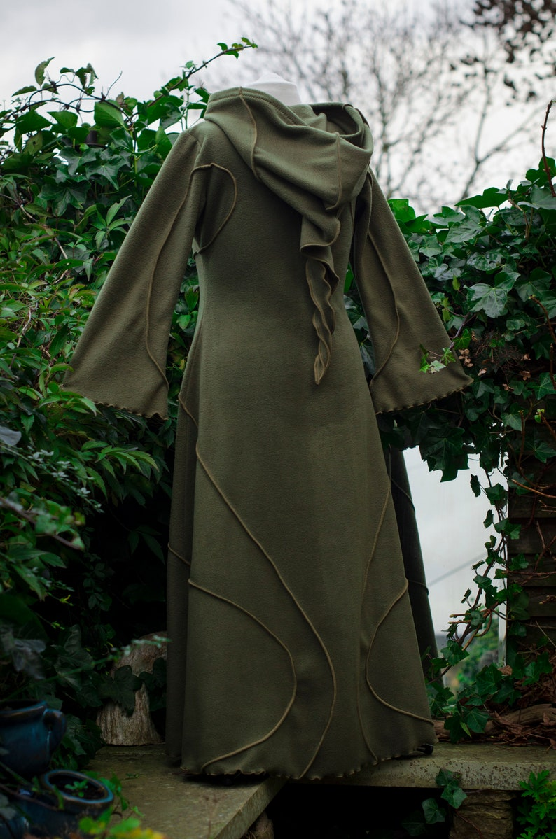 made2measure hooded brown coat brown coat Floor Length Indigo Coat ~ long brown coat technodolly fleece coat floor length brown coat