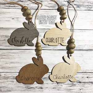 Personalized Tag Personalized Easter Tag Custom Name Easter Basket Tag Easter Name Tag Mila Style Kids Easter Tag Easter Tag Wood