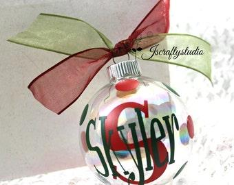 Personalized Christmas Ornament - Custom Christmas Ornament - Christmas Ornament - Monogrammed Christmas Ornament