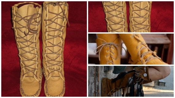 Size 13 Mens Moccasin Pattern Boot Etsy