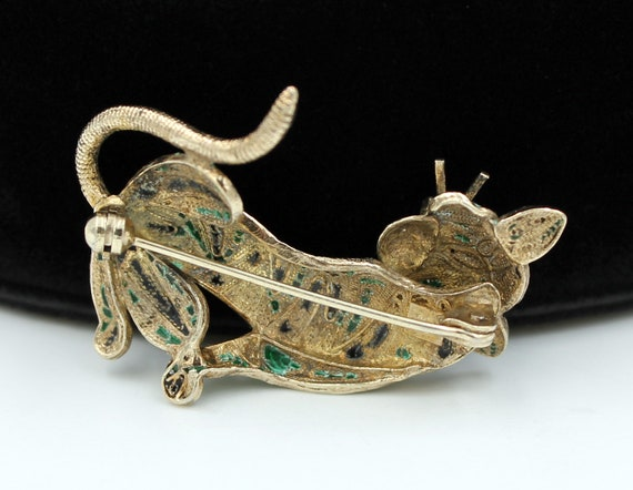 Chinese Tiger Brooch, 800 Silver, ca. 1930s - image 8
