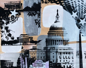 DC Collage (Siliver Tones)