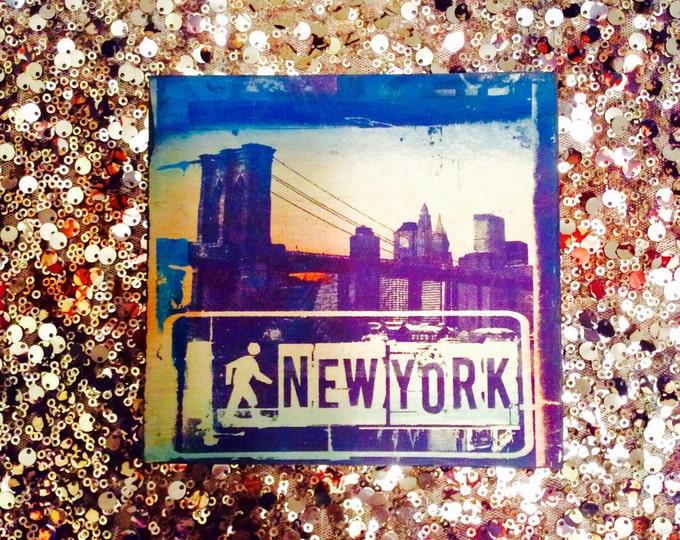 I Walk NY Sign Collage