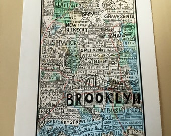 Brooklyn Boroughs Poster