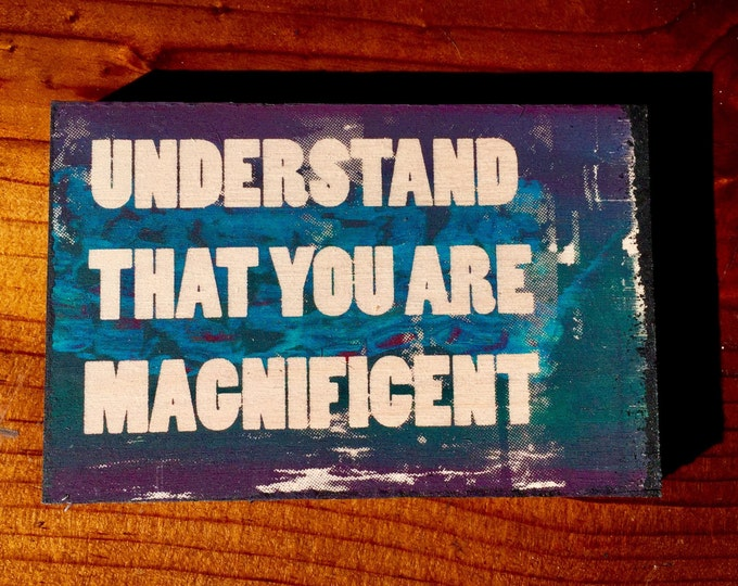 Understand That You Are Magnificent