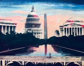 DC Monuments (Cherry Blossom Sunset)