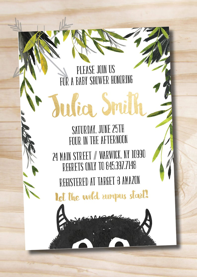 Where The Wild Things Are Baby Shower Invitation Let The Etsy