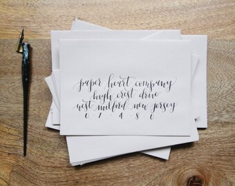 Custom Calligraphy Envelope Addressing, Hand Lettered, Wedding Calligraphy, Watercolor Calligraphy, Envelope Addressing, Hand Calligraphy