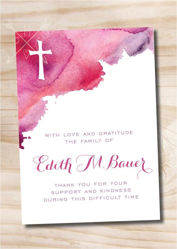 Printable digital file or printed invitations Funeral Thank You Notecards Bridge and River Photo Sympathy Memorial