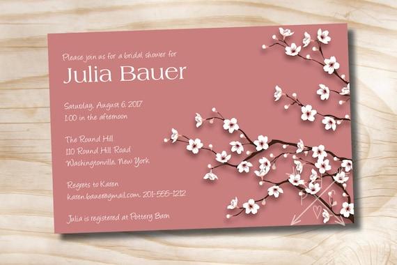 Cherry blossom chic bridal shower baby shower invitation etsy image 0 filmwisefo
